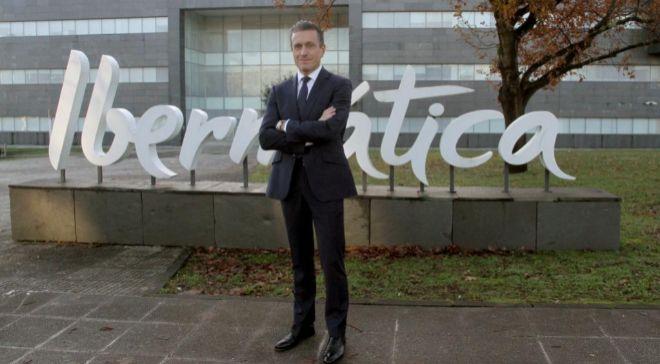 Juan Ignacio Sanz, en la sede de Ibermática en Derio (Vizcaya).