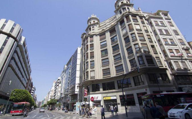La calle Colón, en el centro de Valencia.