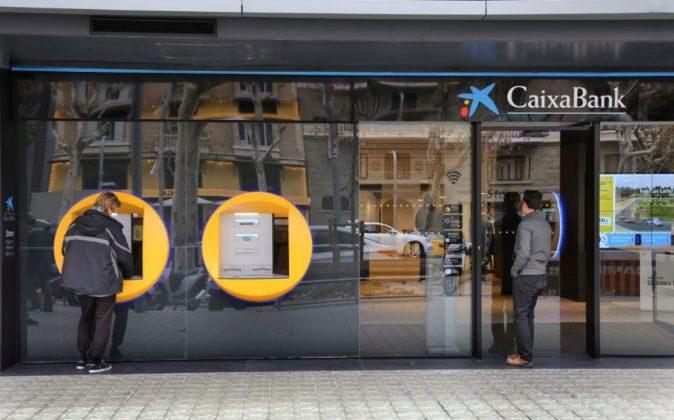 Oficina de CaixaBank en Barcelona