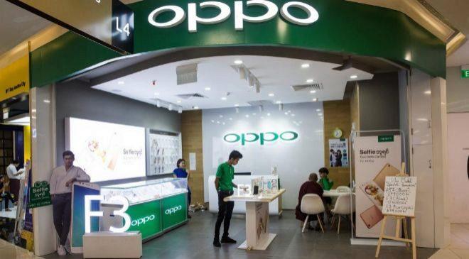 Un establecimiento de Oppo en Asia.