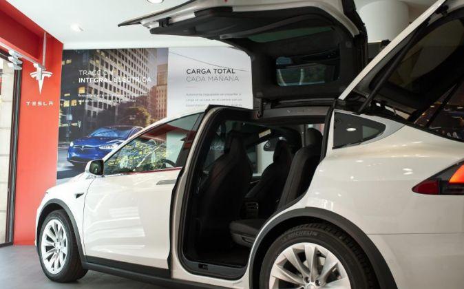 Nueva tienda de Tesla en calle Serrano de Madrid.