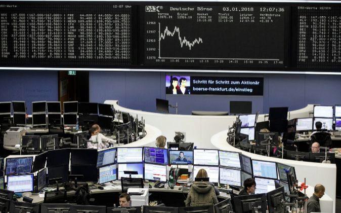 Operadores de la Bolsa de Frankfurt.