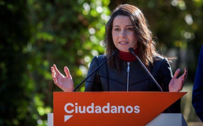 La líder de Ciudadanos (Cs) en Cataluña, Inés Arrimadas.