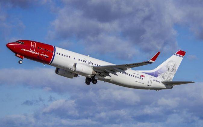 Avión de la aerolínea Norwegian Air Shuttle