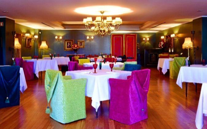 La sala del restaurante Largo do Paço, en el Relais & Châteaux...
