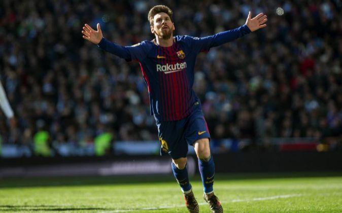 El delantero argentino del Barcelona Leo Messi.