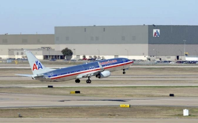 Un avión de la compañía aérea estadounidense American Airlines.