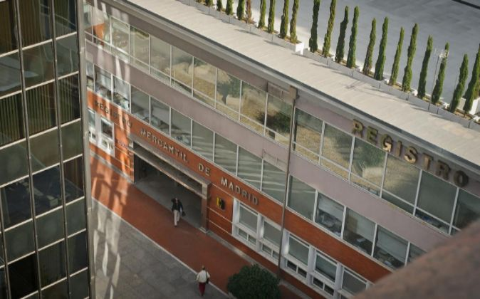 Vistas del Registro Mercantil de Madrid.