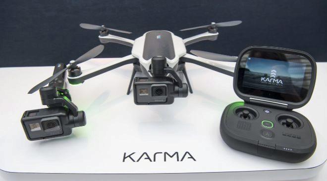 Cámara de GoPro instalada en un drone.