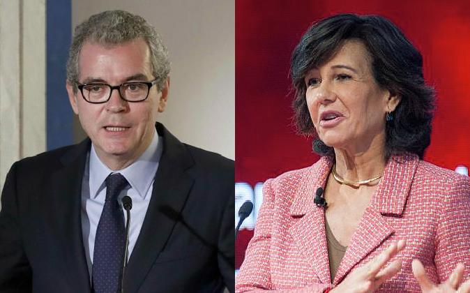Pablo Isla (presidente de Inditex) y Ana Botín (presidenta de Banco...