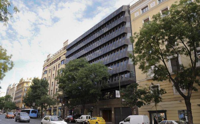 Edificio en Goya 14, nueva sede de la Audiencia Nacional.