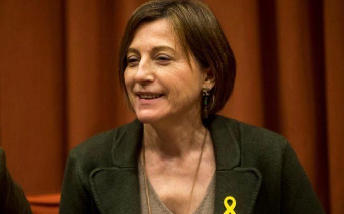 La presidenta de la Diputación Permanente del Parlament, Carme...
