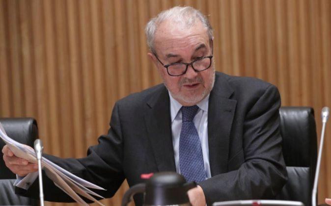 El exvicepresidente del Gobierno Pedro Solbe, momentos antes del...