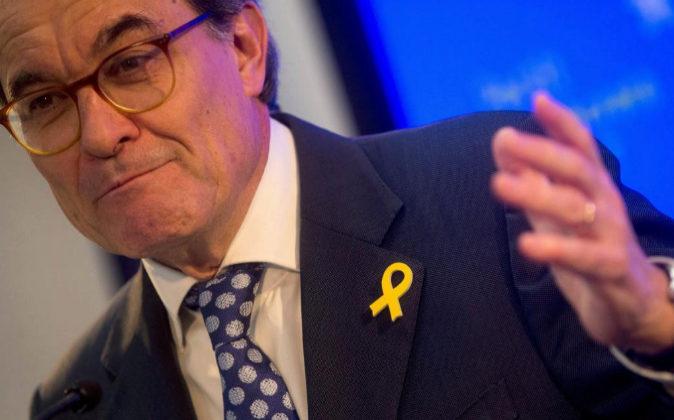 El expresidente de la Generalitat y presidente del PDeCAT, Artur Mas,...