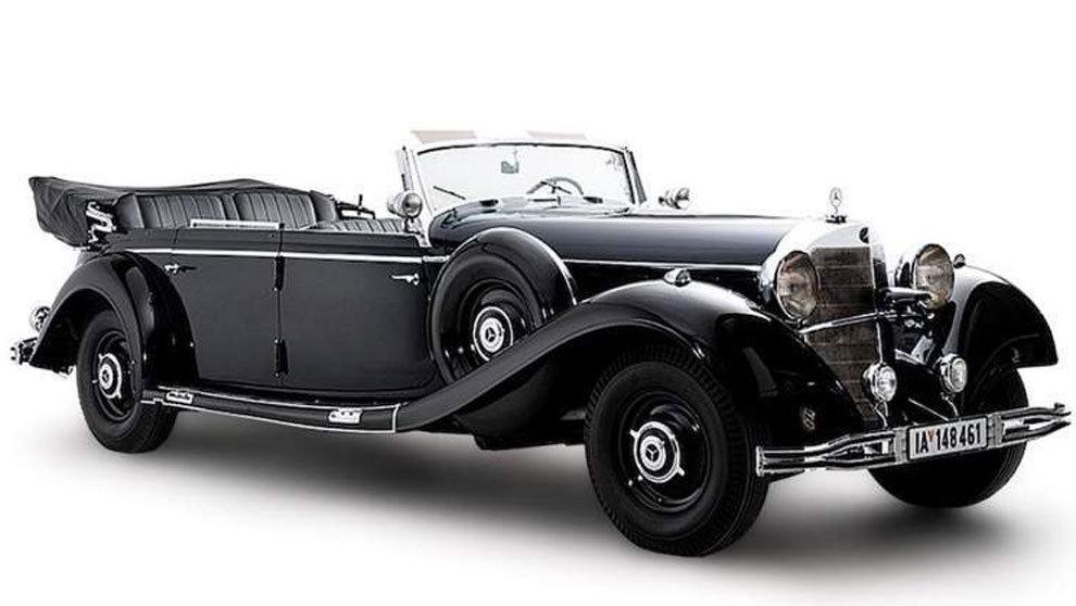 El Mercedes utilizado por el 'Führer' para sus desfiles...