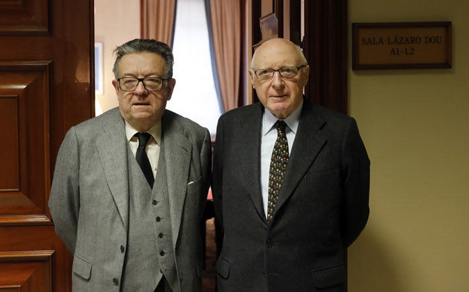 Miguel Herrero y Rodríguez de Miñón (izquierda) y José Pedro...