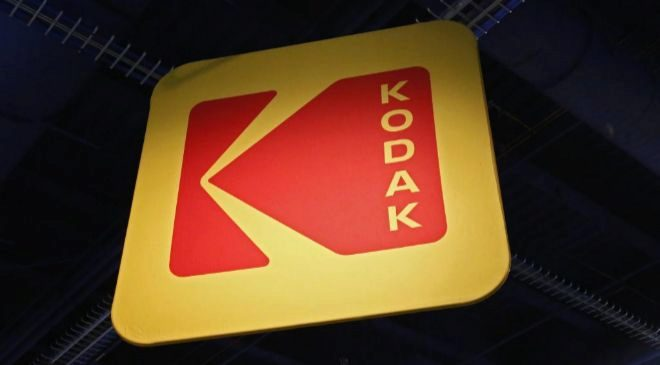 Vista del logo de la marca Kodak durante el Salón Internacional de la...