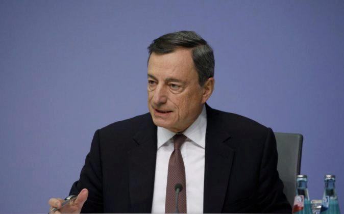 El Banco Central Europeo, Mario Draghi.