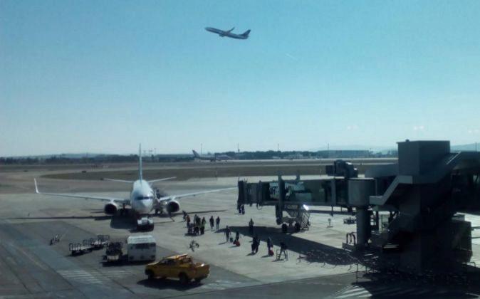El aeropuerto de Manises.