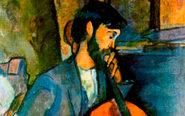 'El violinista' (anverso), 1909.