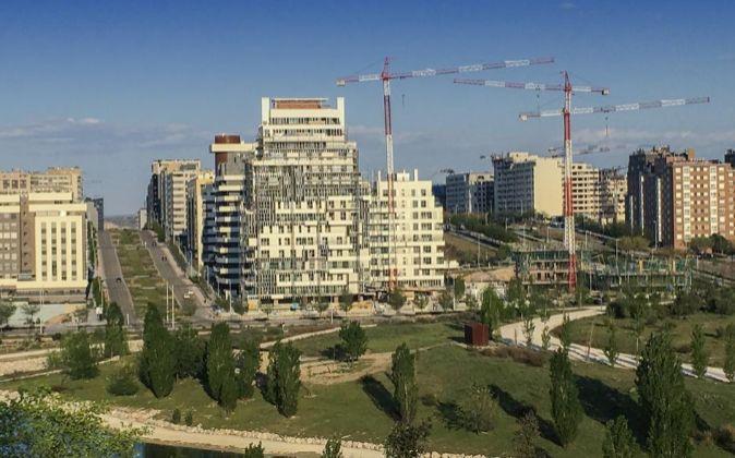 Edificios en construccion en Valdebebas, Madrid.