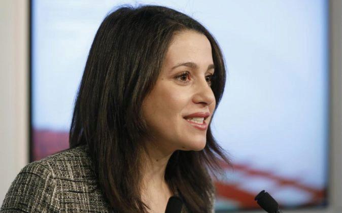 La líder de Ciudadanos en Cataluña, Inés Arrimadas, durante un...