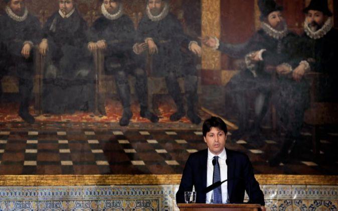 El presidente de Societat Civil Catalana, José Rosiñol, durante su...
