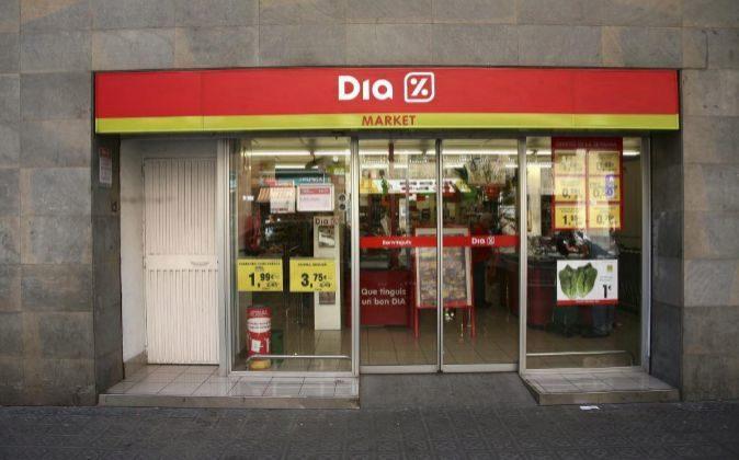 Supermercado de Dia en Barcelona.
