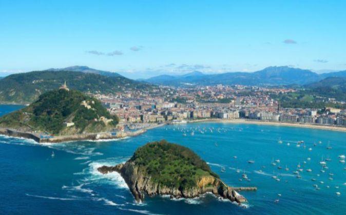 Vista panorámica de San Sebastián.