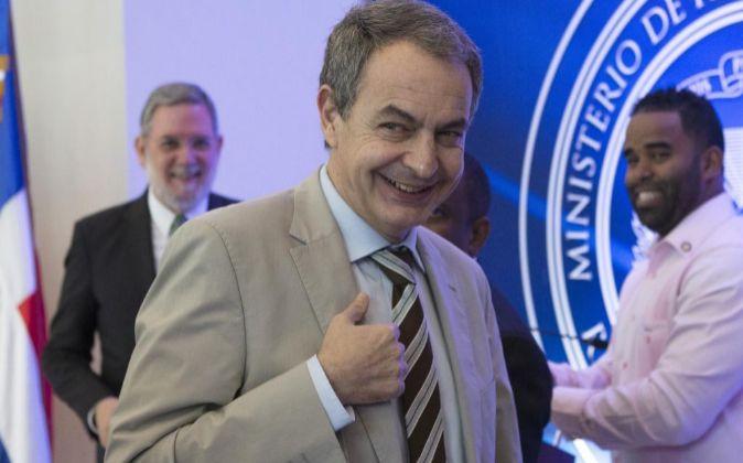 El expresidente del gobierno español, José Luis Rodríguez Zapatero,...