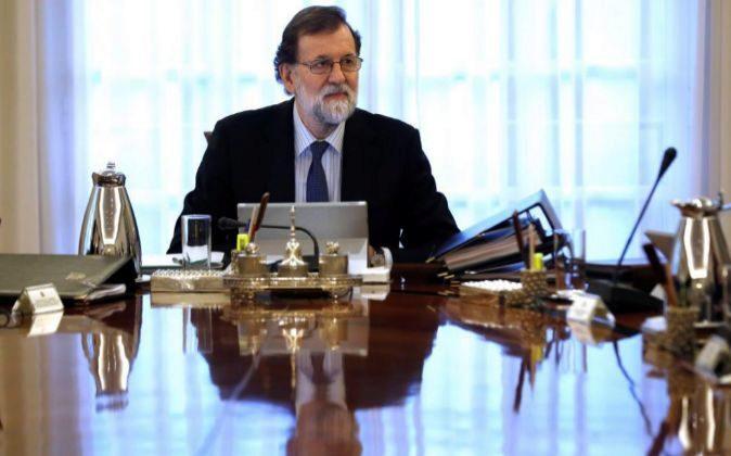 El presidente del Gobierno, Mariano Rajoy, preside la reunión del...