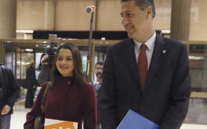 Inés Arrimadas y Xavier García Albiol, en una imagen de archivo.