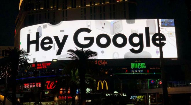 Imagen de un anuncio de Google en Las Vegas