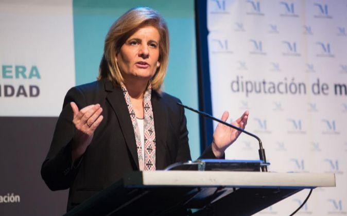 La ministra de Empleo y Seguridad Social, Fátima Bánez.