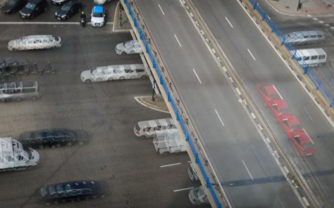 Imagen del tráfico en Madrid.
