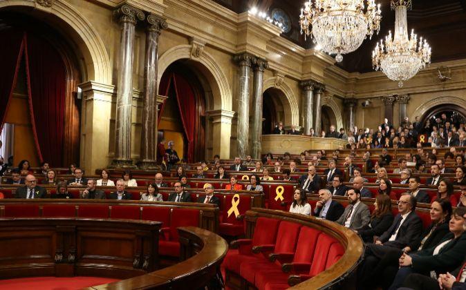 El Parlament esta mañana, en la sesión constitutiva.