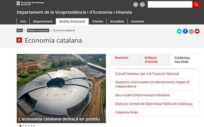 Según el idioma   El apartado sobre economía catalana del...