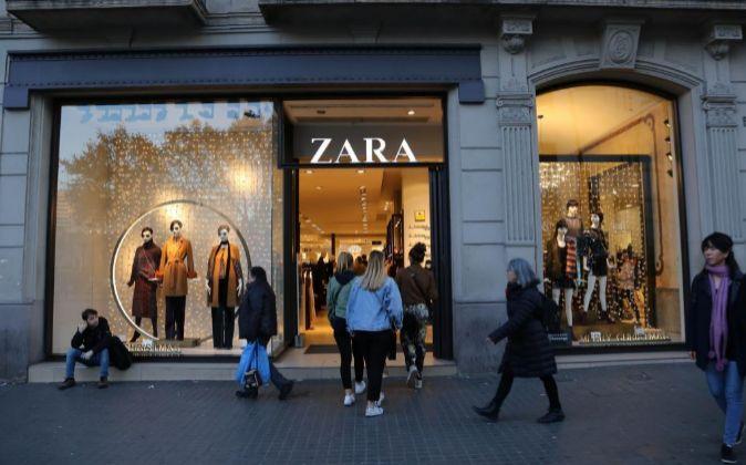 Tienda de Zara en la Calle Pelayo, 58, de Barcelona.