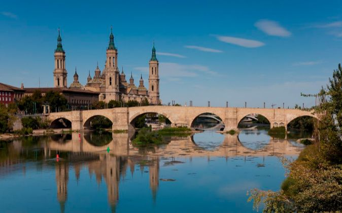 Vista de la ciudad de Zaragoza.