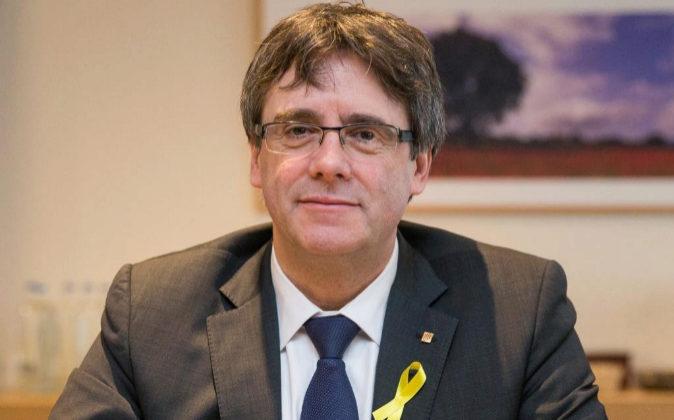 El expresidente catalán Carles Puigdemont, el pasado 12 de enero...