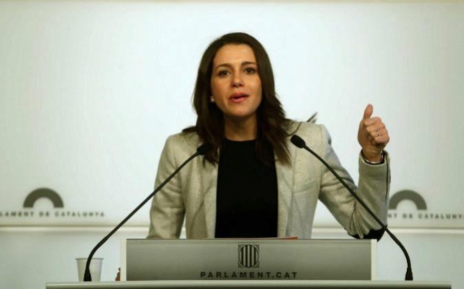 Inés Arrimadas, diputada de Ciudadanos en el Parlamento catalán