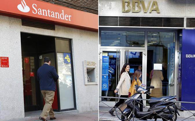 Oficinas de Santander y BBVA.