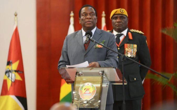 El presidente de Zimbabue Emmerson Mnangagwa.