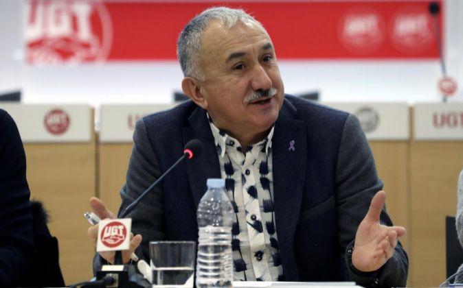 El secretario general de UGT Pepe Álvarez.