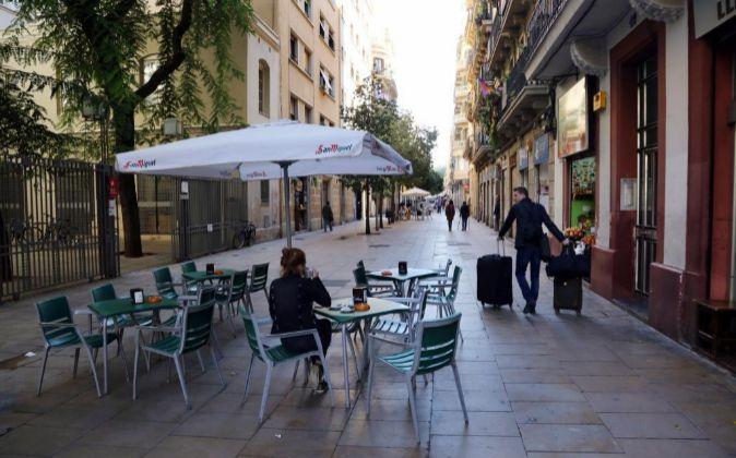 Calle Blai en Barcelona.