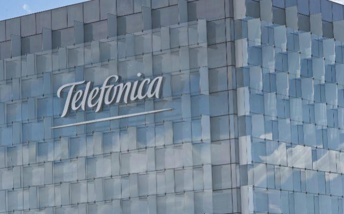 Vista de la sede de Telefónica.