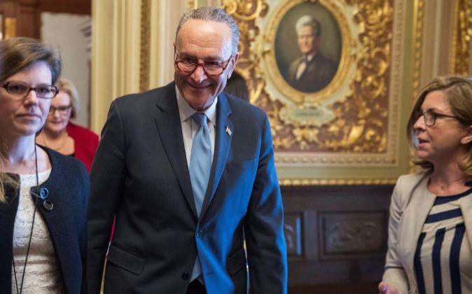 El líder de la minoría demócrata en el Senado, Chuck Schumer.