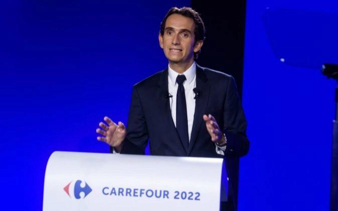 El presidente del grupo de distribución Carrefour, Alexandre Bompard,...