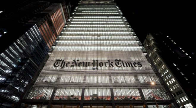Sede de 'The New York Times' en la Octava Avenida de Nueva...