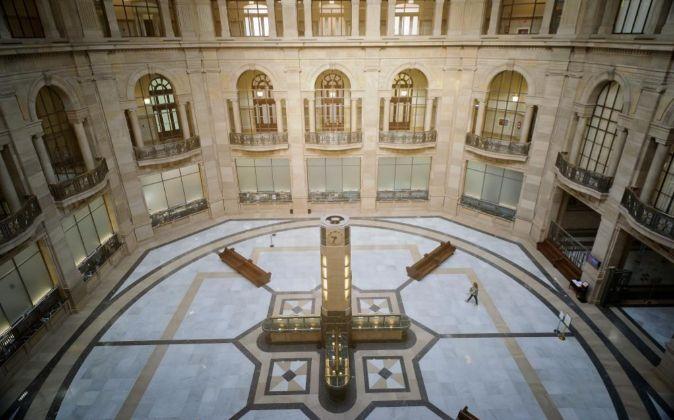 Vista del interior de la sede del Banco de España en Madrid.